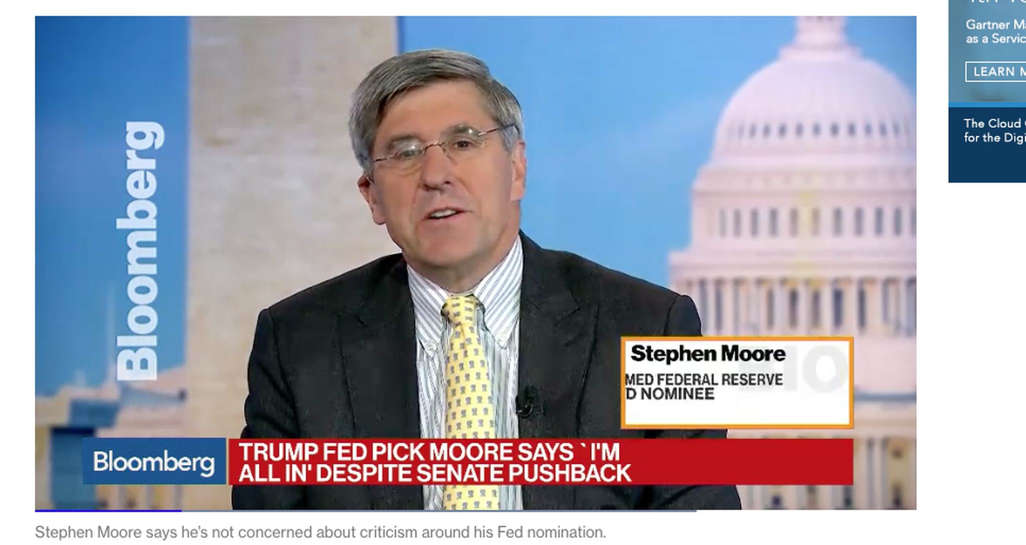 Stephen Moore withdraws from Fed nomination