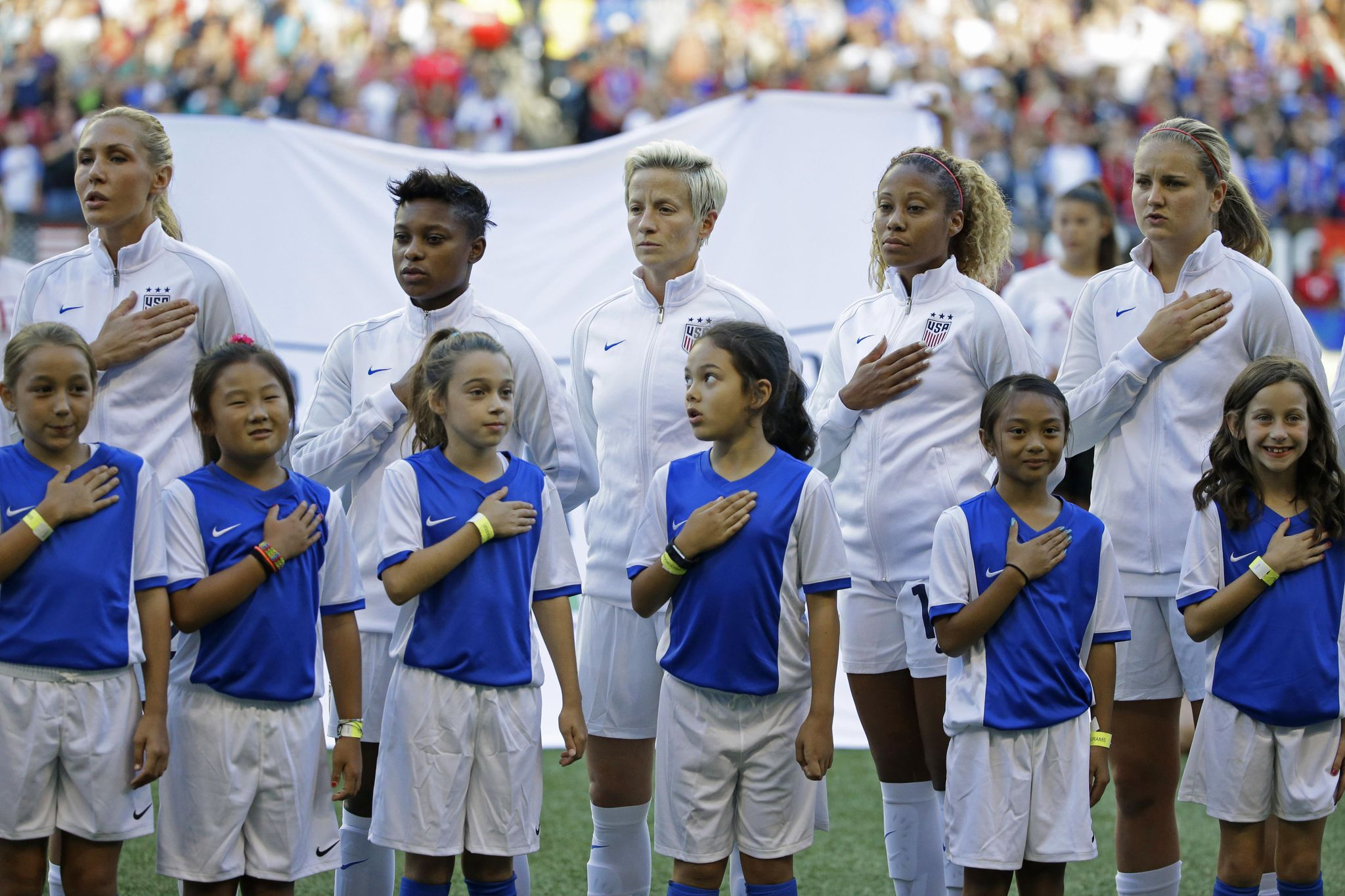 Megan Rapinoe anthem protest inappropriate, Donald Trump says