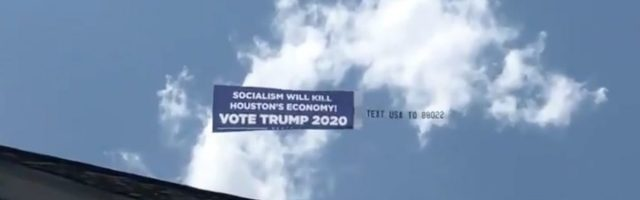 trump-campaign-banner-spotted-flying-over-scene-of-democratic-debates