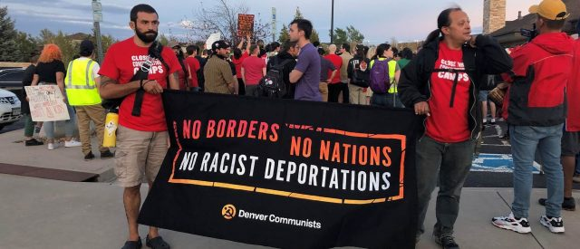 anti-ice-activists,-communists-protest-outside-home-of-detention-center-warden