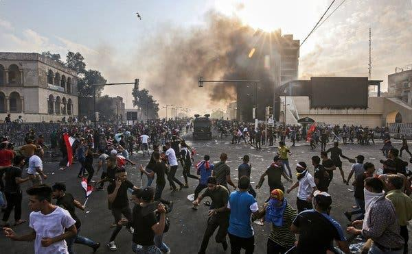at-least-7-dead,-embassies-sealed-off-as-iraq-protests-rage;-police-open-fire-on-crowds