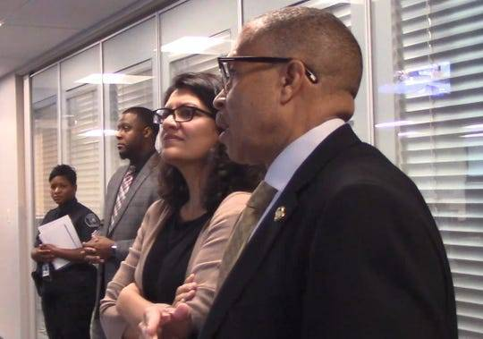 rashida-tlaib,-in-contentious-tour,-tells-detroit-police-chief-to-hire-only-black-analysts-for-facial-recognition-program