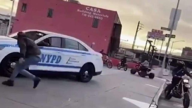 video:-nypd-officer-appears-to-be-taunted-by-group-of-dirt-bike-riders