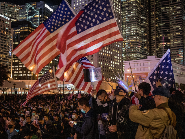 watch:-hong-kong-protesters-hold-'thanksgiving'-rally-after-trump-signs-support-bills