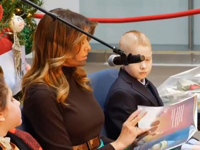 watch-live:-melania-trump-reads-to-kids-at-children's-hospital