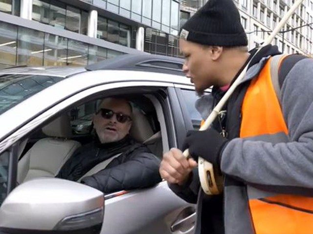 watch:-climate-strike-frustrates-dc.-driver:-i'm-burning-'more-gas-by-sitting-here'