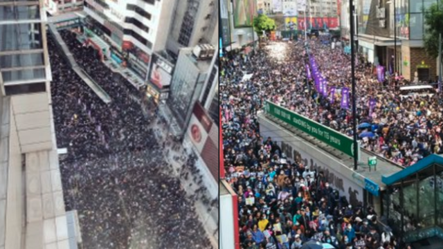 hong-kong-protests-attract-massive-crowds,-estimated-800k-march-in-financial-district
