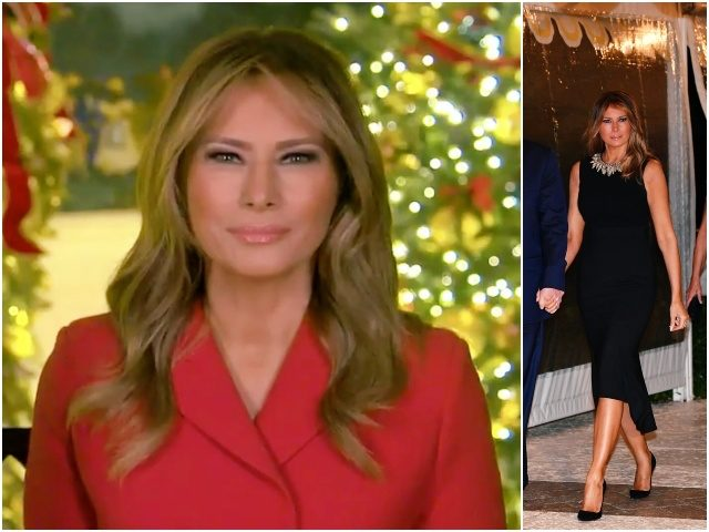 fashion-notes:-melania-trump-wishes-a-merry-christmas-in-red-dior-'bar'-suit