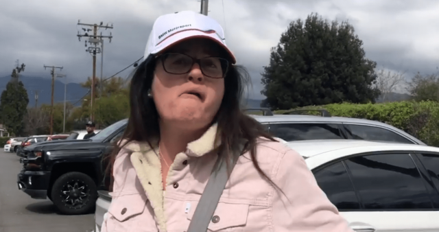 angry-woman-rants-at-ambulance-blocking-her-car-from-leaving