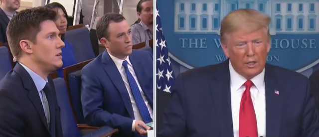 'gee,-that's-too-bad':-trump-reacts-to-romney's-self-quarantine-during-press-conference