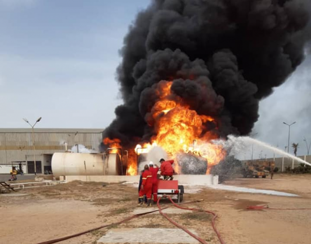 civilian-airliner-&-fuel-depot-burst-into-flames-as-libyan-airport-comes-under-attack