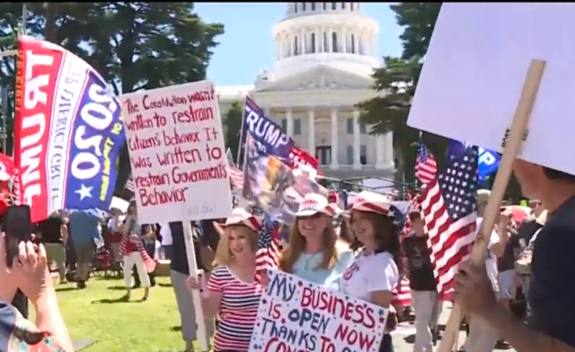 video-–-hundreds-gather-in-sacramento,-protesting-california's-stay-at-home-order