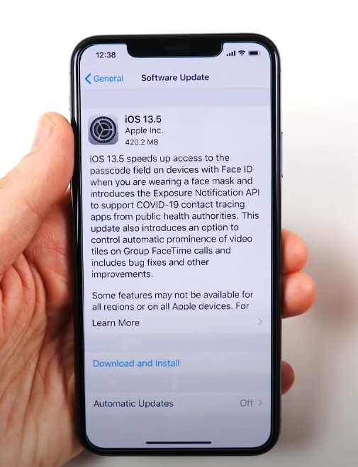 apple-iphone's-13.5-ios-update-to-use-covid-contact-tracing-and-face-mask-facial-recognition