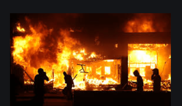 police:-rioters-set-fire-to-home-with-child-inside,-then-block-firefighters