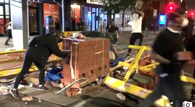 pallets-of-bricks-'randomly'-appear-during-protests