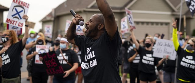 'blue-lives-ain't-sh*t':-minnesota-state-house-candidate-participated-in-blm-protest-in-front-of-the-minneapolis-police-federation-president's-house