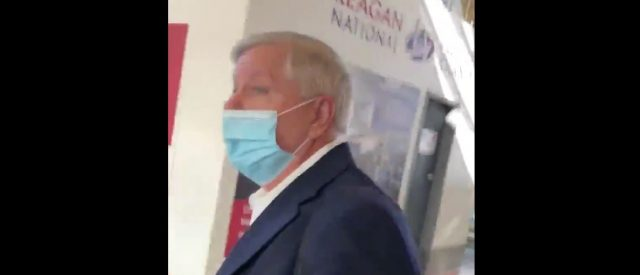 'i-won't-be-intimidated':-lindsey-graham-ambushed-by-two-women-as-he-arrived-in-dc