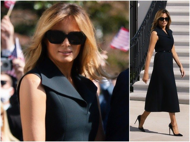 fashion-notes:-melania-trump-emerges-from-quarantine-in-dior-for-debate