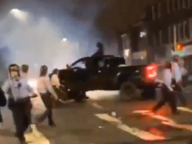 watch:-driver-runs-down-philadelphia-cops-during-protest-—-officer-injured