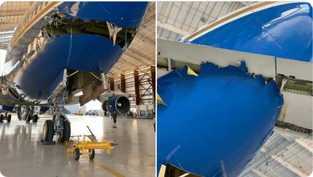 rare-boeing-owned-by-sheldon-adelson's-corporation-damaged-in-collision