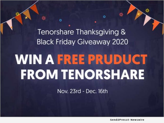 news:-tenorshare-announces-giveaways-for-thanksgiving-and-black-friday-2020-|-citizenwire