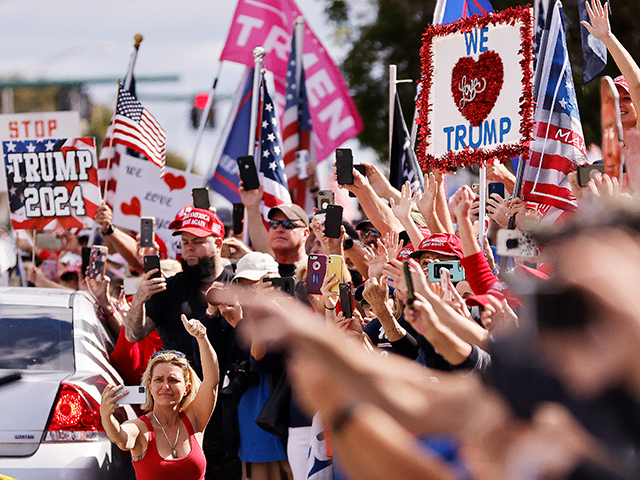 supporters-line-mar-a-lago-streets-to-'welcome-home'-donald-trump