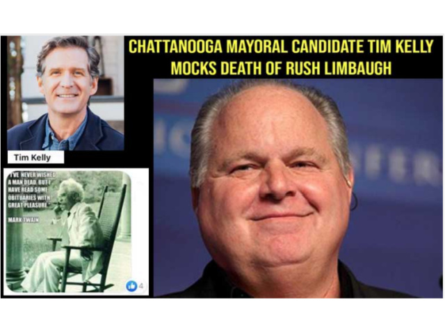 chattanooga,-tennessee,-mayoral-candidate-tim-kelly-mocks-death-of-rush-limbaugh