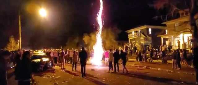 'unacceptable-and-irresponsible':-massive-college-party-erupts-into-violence,-property-vandalized-and-police-officers-assaulted