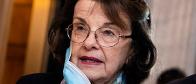 'please,-we're-very-good-friends':-sen-feinstein-dismisses-questions-from-reporters-about-gov.-newsom-replacing-her