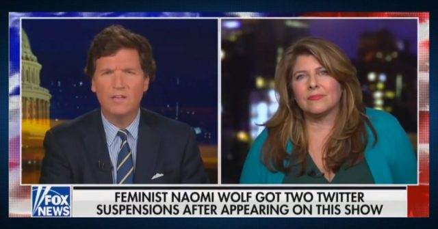 former-clinton-advisor-naomi-wolf-tells-tucker-carlson:-'democrats-are-'in-an-embrace-with-big-tech'-to-silence-opposing-voices-on-social-media