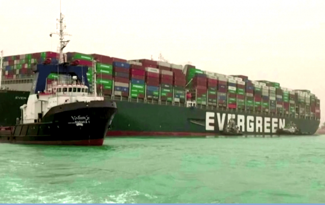 watch-–-oil-prices-jump-as-taiwan-container-ship-remains-aground-in-suez-canal
