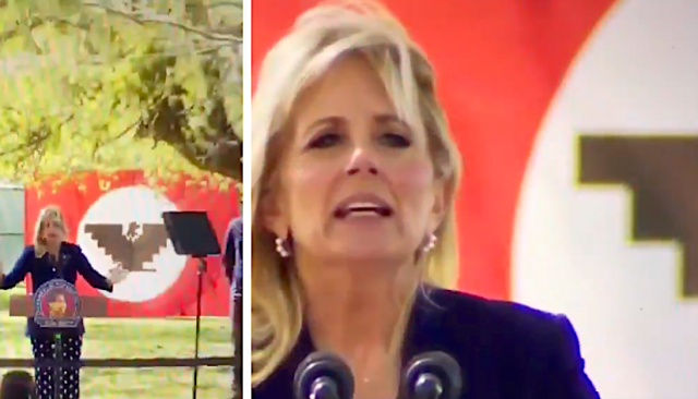 pander-fail:-jill-biden-mangles-basic-spanish,-and-what's-with-the-flag?