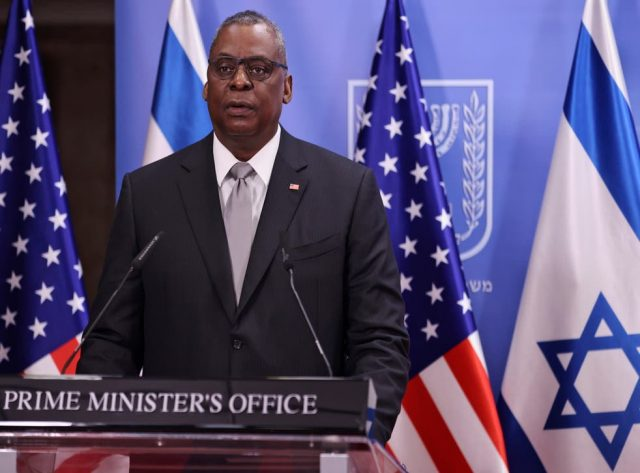 lloyd-austin-visits-israel-to-speak-with-benny-gantz,-claims-us-alliance-with-israel-is-iron-clad;-skepticism-ensues.