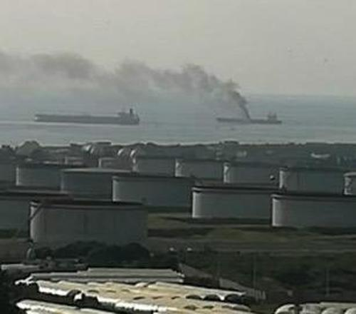 oil-tanker-in-flames-off-syrian-coast-after-suspected-drone-attack