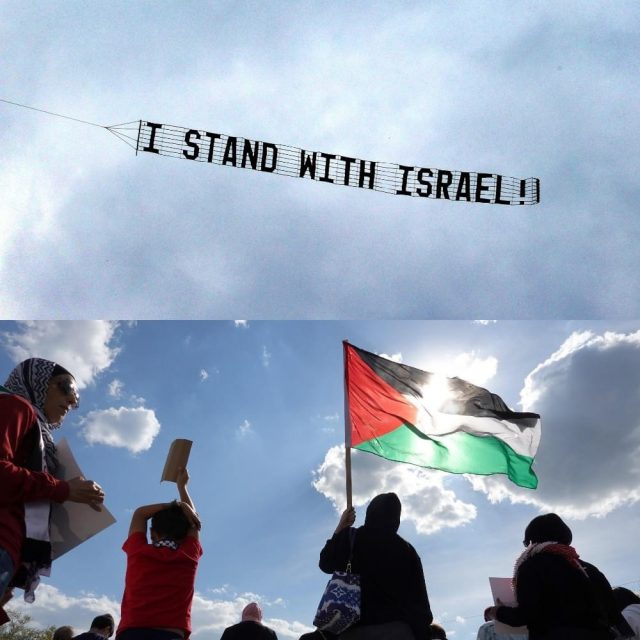"""exclusive:-investigative-journalist-receives-islamic-death-threats-after-flying-an-""""i-stand-with-israel!""""-banner"""