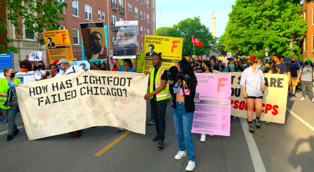 watch-–-truth-bomb-–-'it's-not-enough-to-be-black'-as-over-300-protesters-gather-outside-chicago-mayor-lightfoot's-home