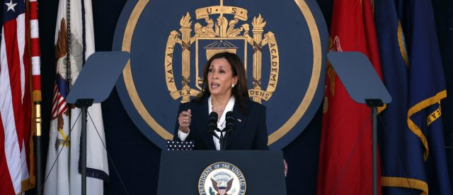 'very-real-threat-to-our-national-security':-kamala-harris-fearmongers-on-climate-change-in-naval-academy-speech