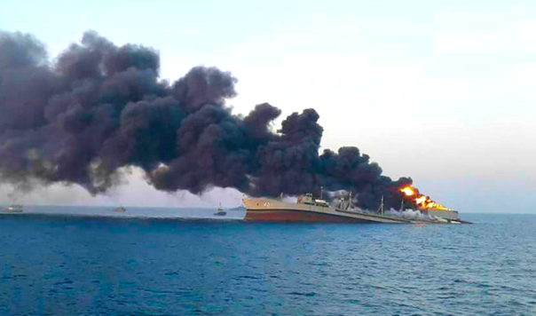 'mysterious-naval-disaster'-–-iran's-largest-warship-catches-fire,-sinks-in-gulf-of-oman