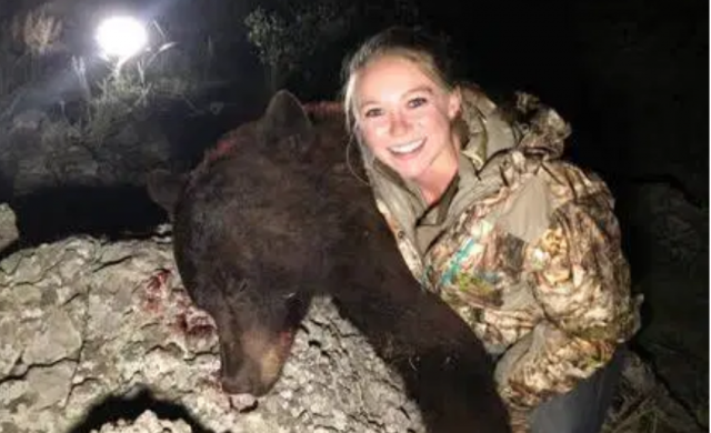 hunter,-26,-targeted-with-death-threats-after-posing-with-body-of-bear-–-and-she-wants-to-kill-elephants-next