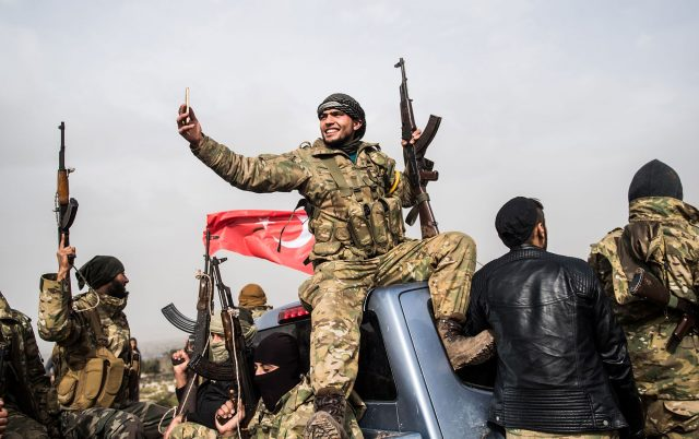 """turkish-forces-escalate-their-bombing-displacement-and-clashes-in-""""manbij"""",-northeast-of-aleppo."""