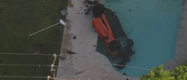 corvette-soars-over-fence-and-crashes-into-backyard-pool,-leaving-2-dead