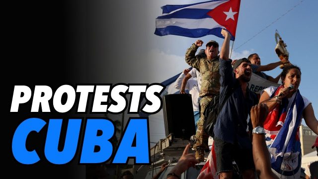 rare-protests-in-cuba,-thousands-rally-against-government